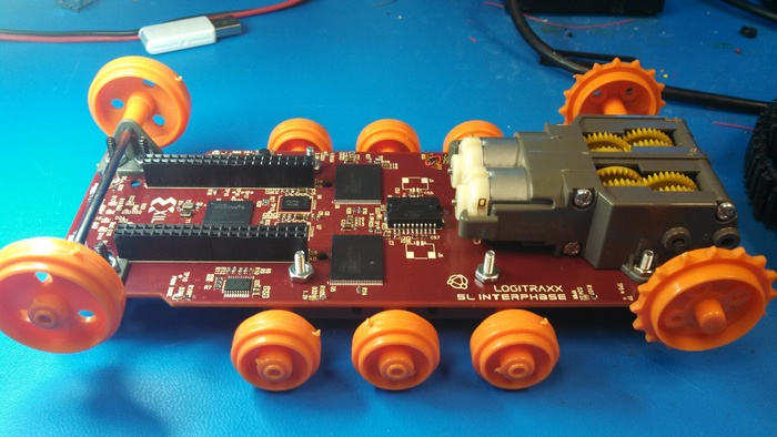 The design as it is today during final assembly. The board has one more cleanup rev to go before production