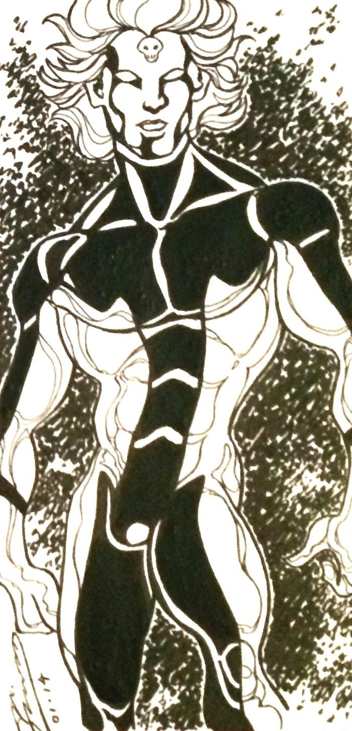 """Silver Shadow by J.A. Flood 4"""" x 8"""""""