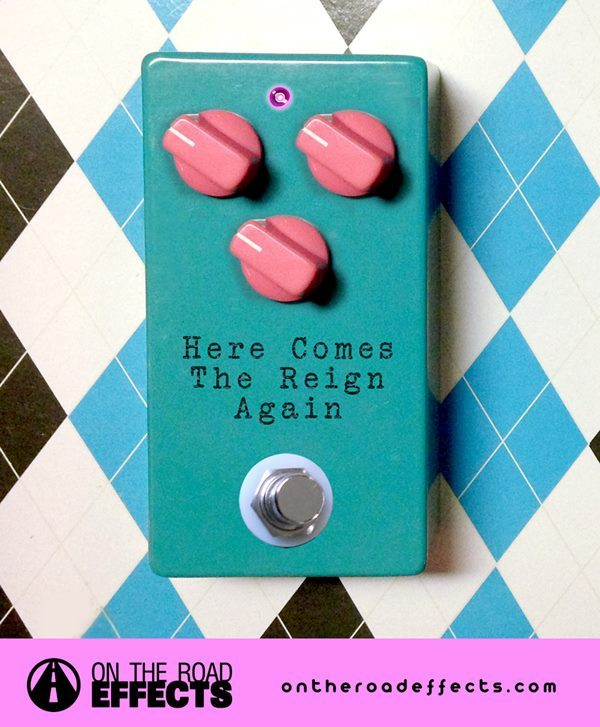 A custom designed effects pedal, designed and built by HCTRA contributor, Eric Barao. Just one of the rewards available to pledgers.