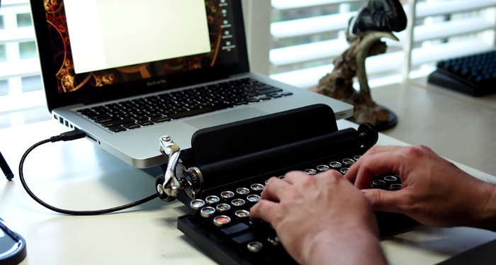 Qwerkywriter with a Macbook via USB
