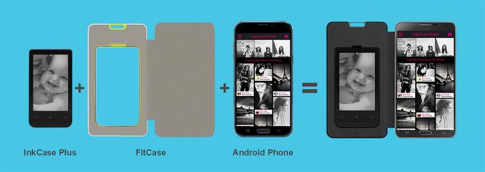 InkCase Plus: второе поколение чехлов для смартфонов, с модульным E Ink дисплеем