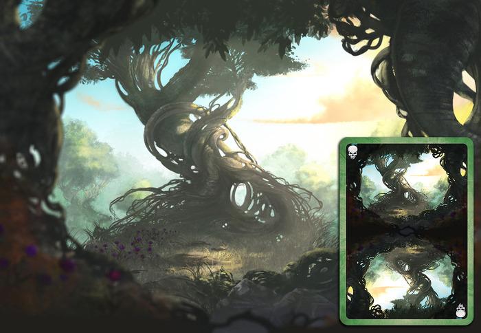 Forest Deck Card