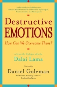 Destructive Emotions: A Scientific Dialogue with the Dalai Lama signed by author, Daniel Goleman