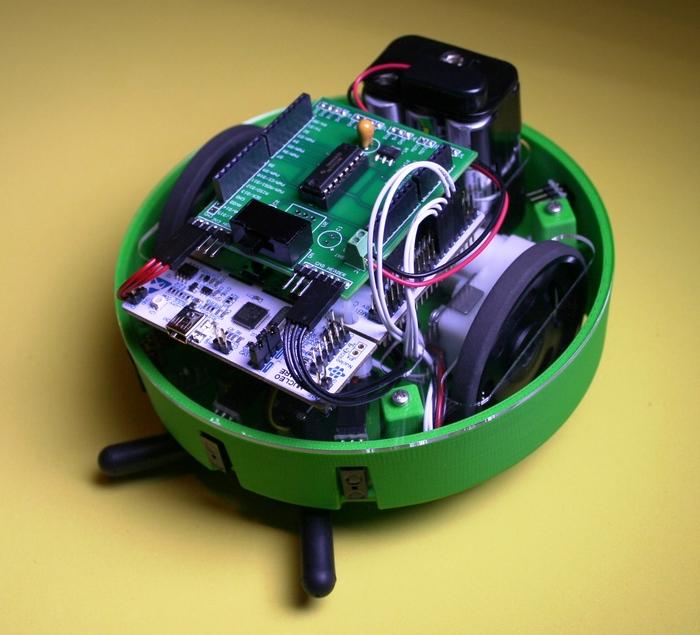 Apeiros shown with optional servo gripper & IR sensors
