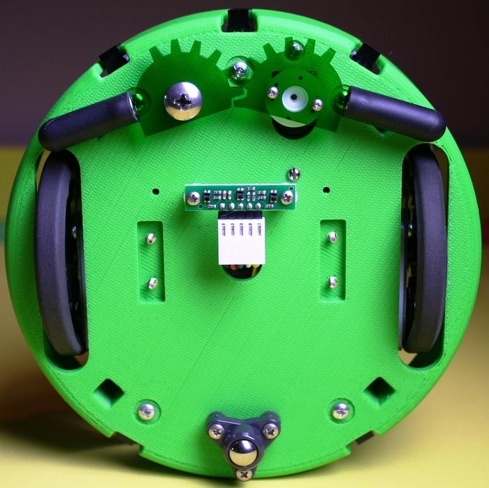 Apeiros with optional QTR-3A line following sensor (3-sensor array)
