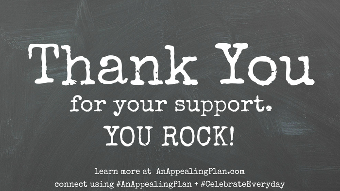 THANK YOU FOR YOUR SUPPORT #kickstarter by @AnAppealingPlan @KraylFunch learn more AnAppealingPlan.com