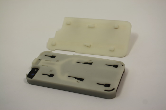 The Convert Case and underside of a Flat Back (SLA prototype)