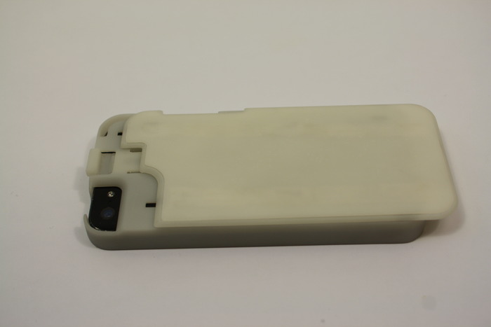 The Convert Case with a Flat Back sliding in (SLA prototype)