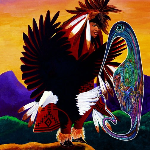 Freelang with Navajo, Dances with Eagles