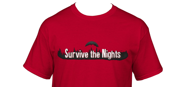 Survive the Nights T-Shirts, final design will be submitted and voted for on the dev blog! :)