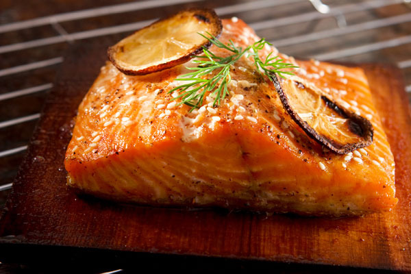 Chef Darling's Hot Smoked Cedar Plank Salmon