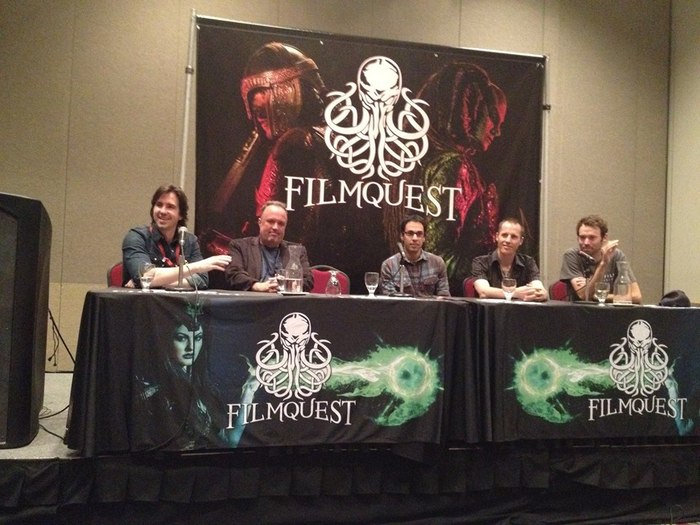 Director Zina Brown (2nd from right) on a filmmaker's panel at FilmQuest Film Festival