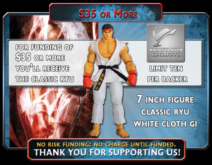 Receive The Classic White Gi Ryu, a Capo Toys, Kickstarter Exclusive