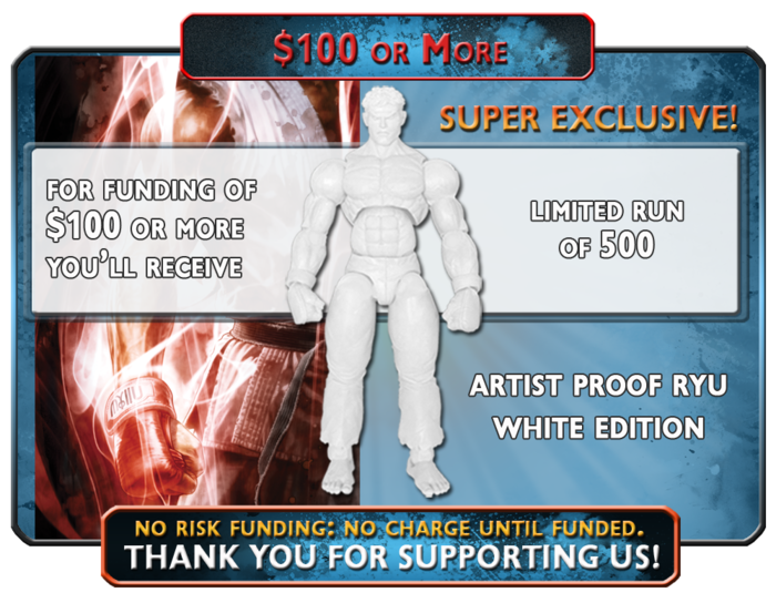 While supplies last, Capo Toys Super Kickstarter Exclusive, Artist Proof Ryu White Limited Edition 500
