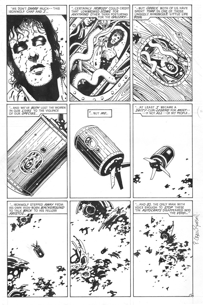 "Tier #8 includes an original ""Iron Wolf"" page by Mike Mignola (pencils) and P. Craig Russell (inks)!"
