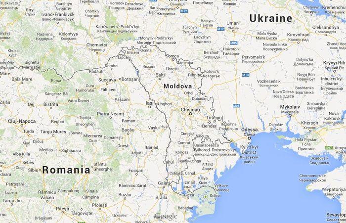 A map of the Republic of Moldova, bordering Ukraine and Romania.