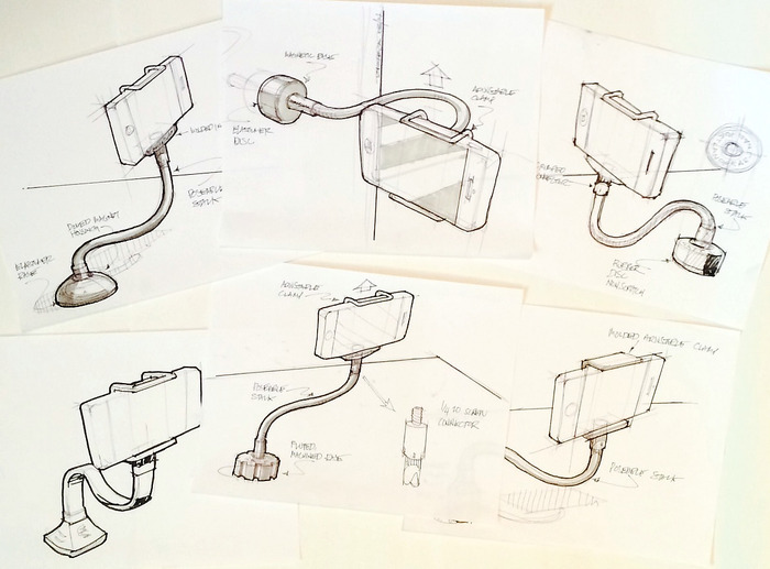 Concepting the GripSnap on paper last year