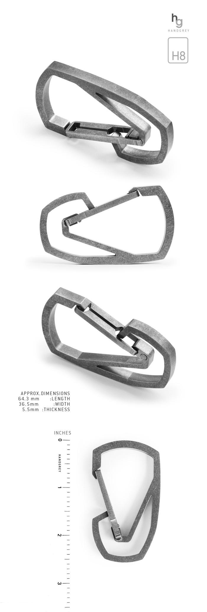 TITANIUM QUICK RELEASE CARABINER: MODEL H8