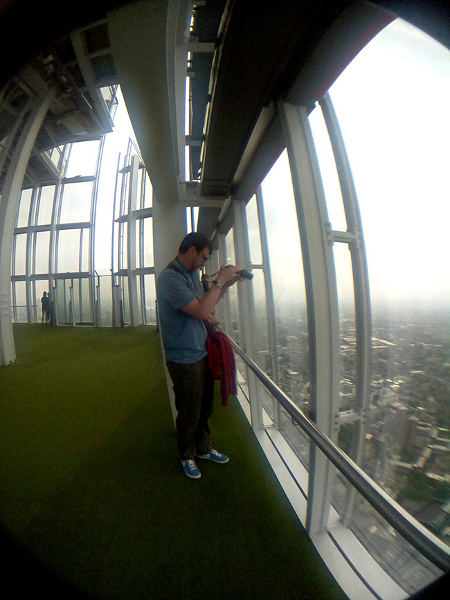 The View from The Shard is incredible. Although there was a lot of cloud around we could still see quite a distance.