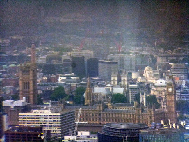 1.7 Miles to Big Ben from The Shard.