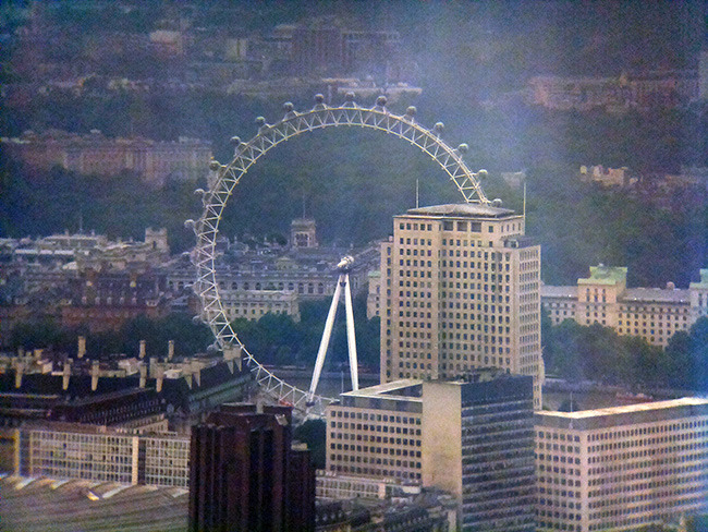 1.3 Miles to the London Eye from The Shard.