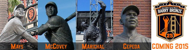 Former Giants statues around AT&T Park