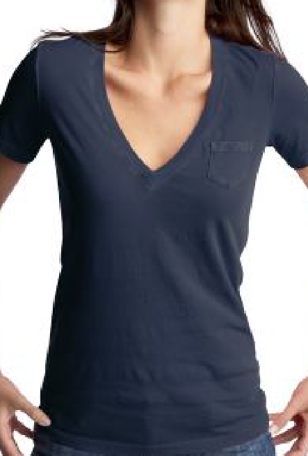 The Women's fit Bokeh shirt will look like this.