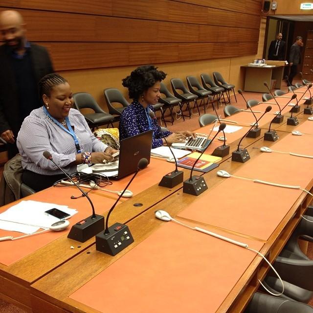 At the U.N. with my co-fellow Dutch Antillian Scholar and Activist Su Girigori