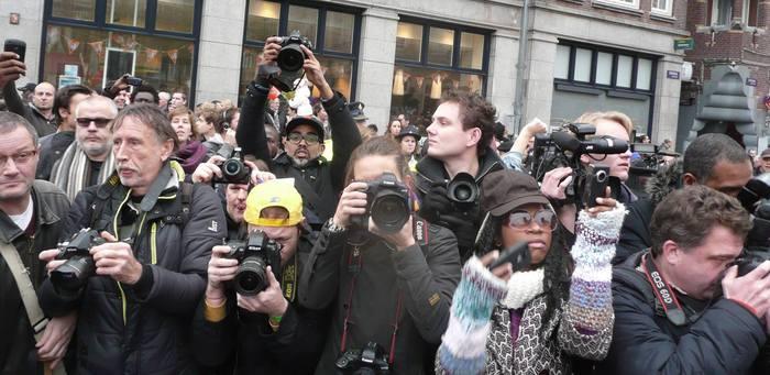 Documenting the Anti-Zwarte Piet Demonstration, Amsterdam, NL ca. 2013 | Photo Credit: Jimini Hignett