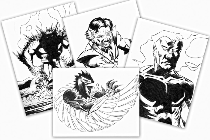A handful of Futurians originals by Ron McCain