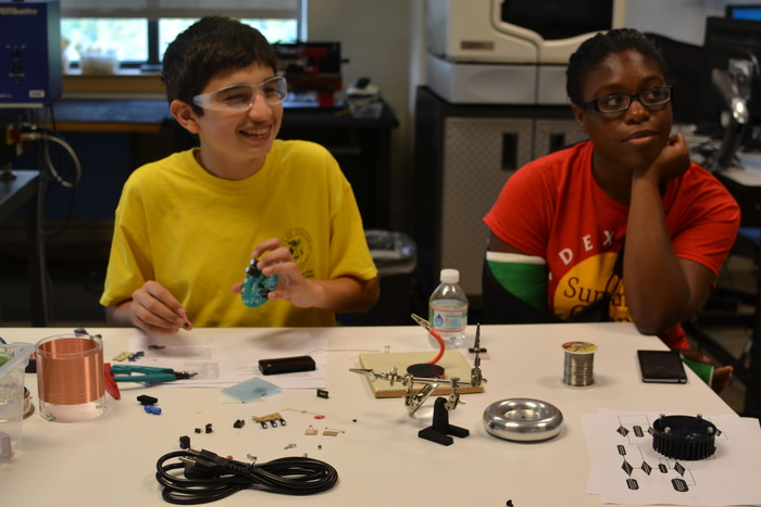 Students of all ages can learn electronics with tinyTesla. If you can solder, you can build this kit!