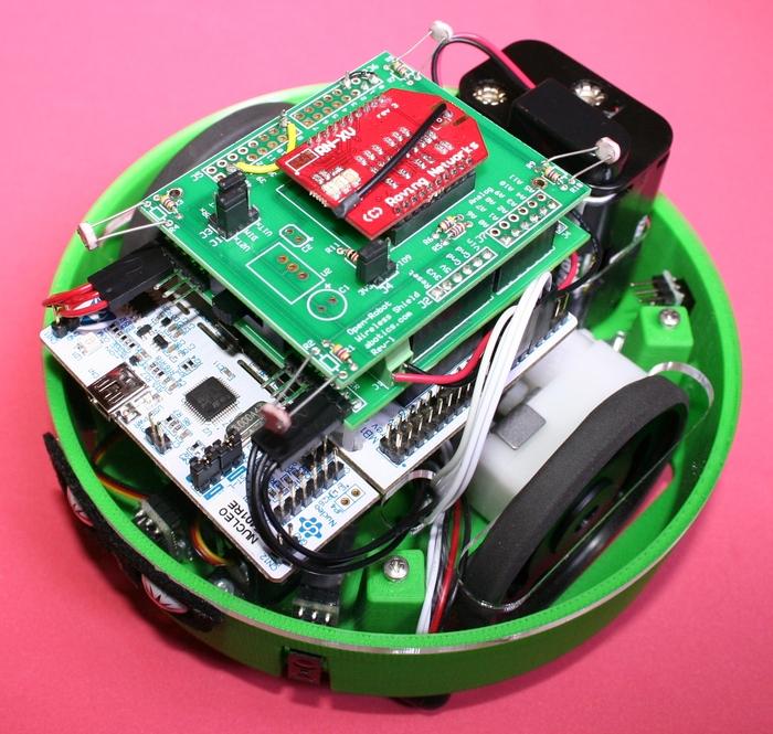 Apeiros with Prototype Wireless Shield (RN171XV WiFi & Light Sensors)