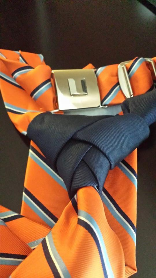 Limited Edition Contrast Buckled Tie! Non Buckled is the same color Scheme!!