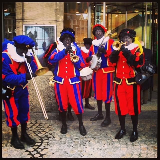 A Zwarte Piet Ragtime Brass band. | Photo Credit: Shantrelle P. Lewis