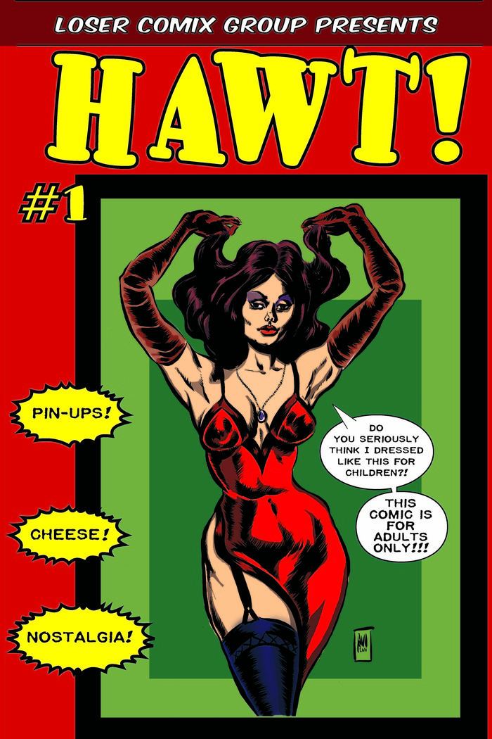 The cover of HAWT! #1, 2011