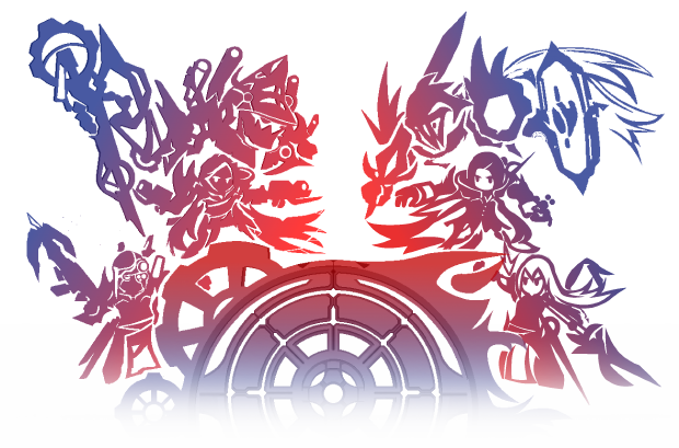 Depiction of the current world conflict. The Remo Magi on the left and the Arc Council on the right, and the world of Asteon in the middle