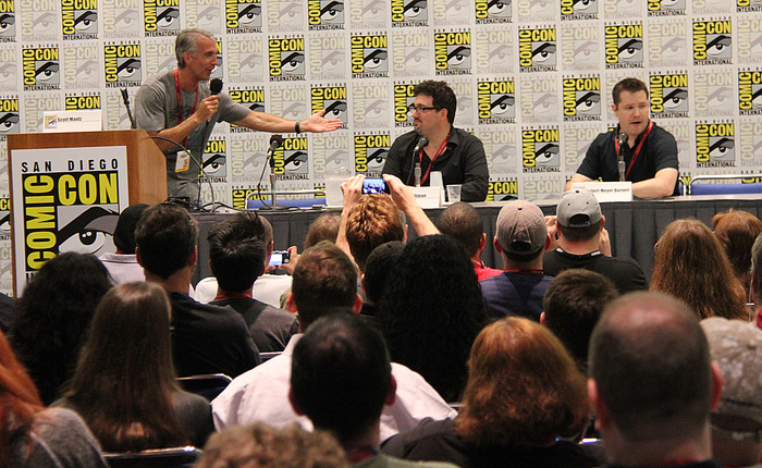 """At the San Diego Comic-Con, panel moderator and FREE ENTERPRISE superfan Scott Mantz talks to creators Mark A. Altman and """"Robert Burnett"""" about the 15th anniversary of their cult classic feature film and the Kickstarter project."""