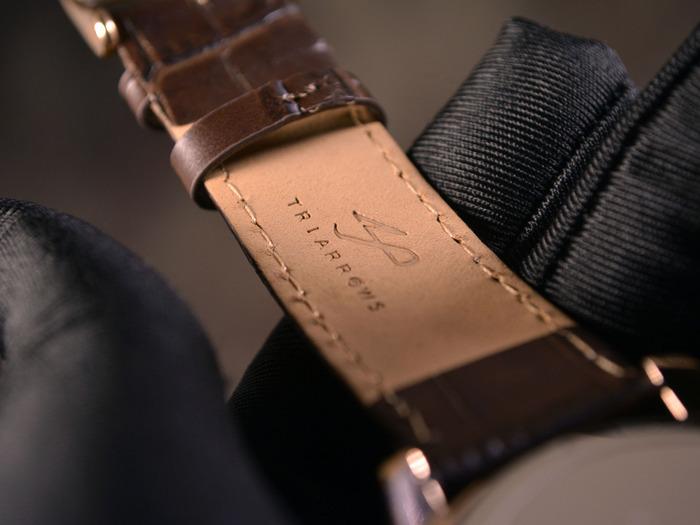 Genuine Leather Strap with TRIARROWS Logo