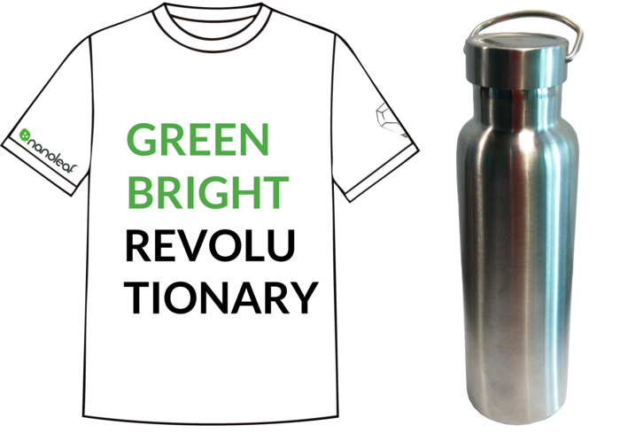 Nanoleaf T-shirt and Laser engraved high quality thermal water bottle