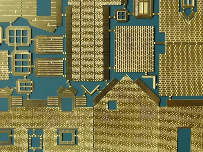 The etched brass sheet that is the kit of parts