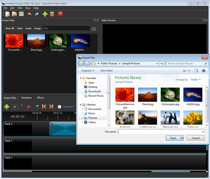OpenShot 2.0 Running on Windows
