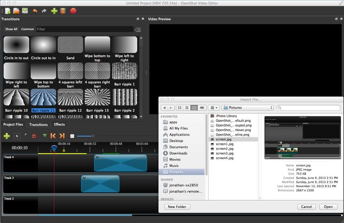 OpenShot 2.0 Running on Mac