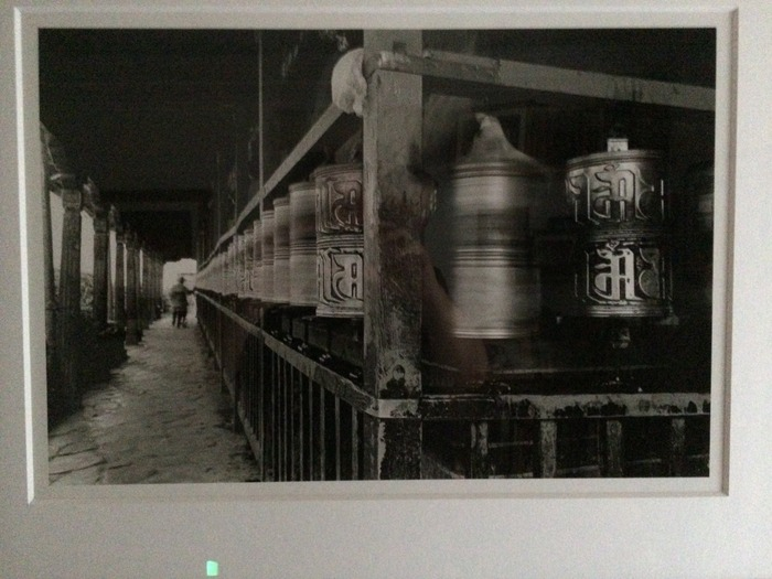 Prayer Wheels at Ramoche Monastery, Lhasa, Tibet  1994. Signed by noted photographer, Kevin Bubriski.