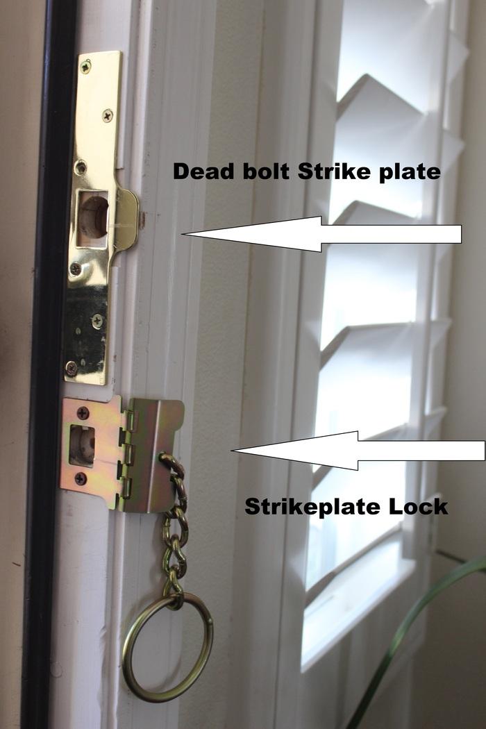 Strike Plate Lock installed