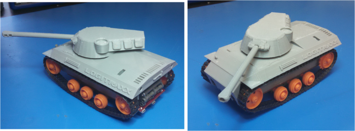 3D printed Logitank comes with servo and tank top fully assembled and ready to use