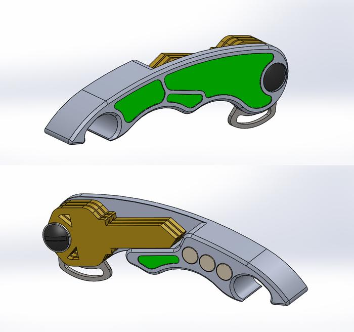 talon bottle opener key organizer magnet by kelvin verrett kickstarter. Black Bedroom Furniture Sets. Home Design Ideas