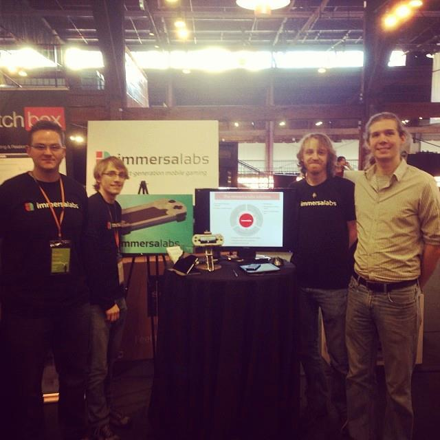 The Immersa Labs team at the LAUNCH start-up festival in San Francisco. February 2014.