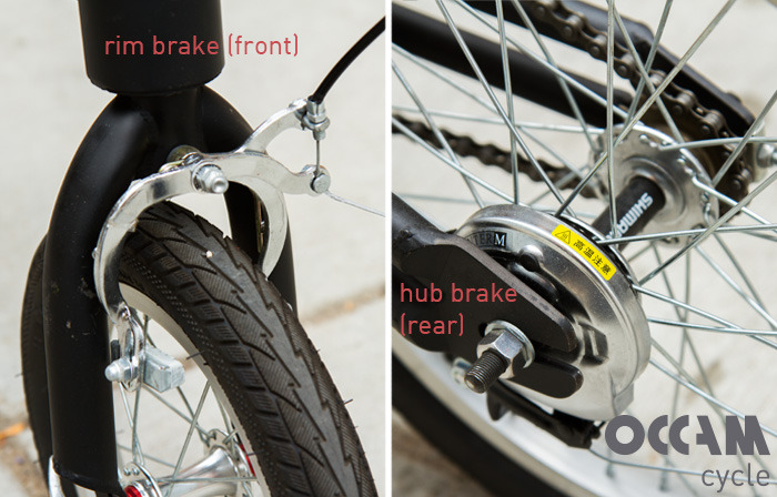 Brakes  included on front and rear wheels