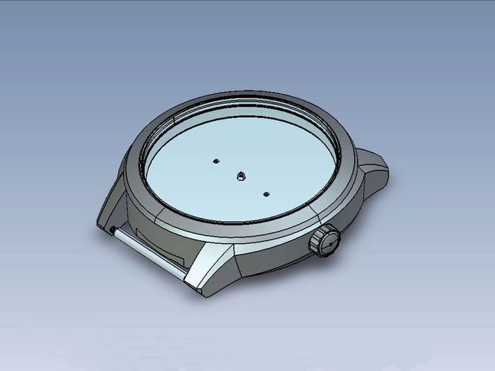 CAD Drawing of TRIARROWS Watch Case