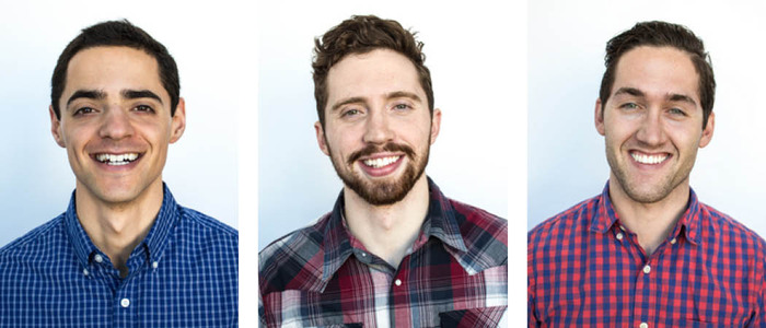 The Tessel team: Greg, Daniel, and Aaron